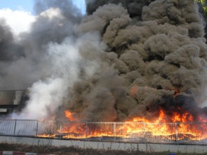 Feuer in Haifa