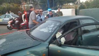 Auto nach dem Anschlag