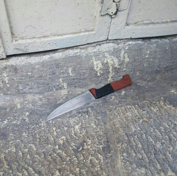 Das Messer des Terroristen